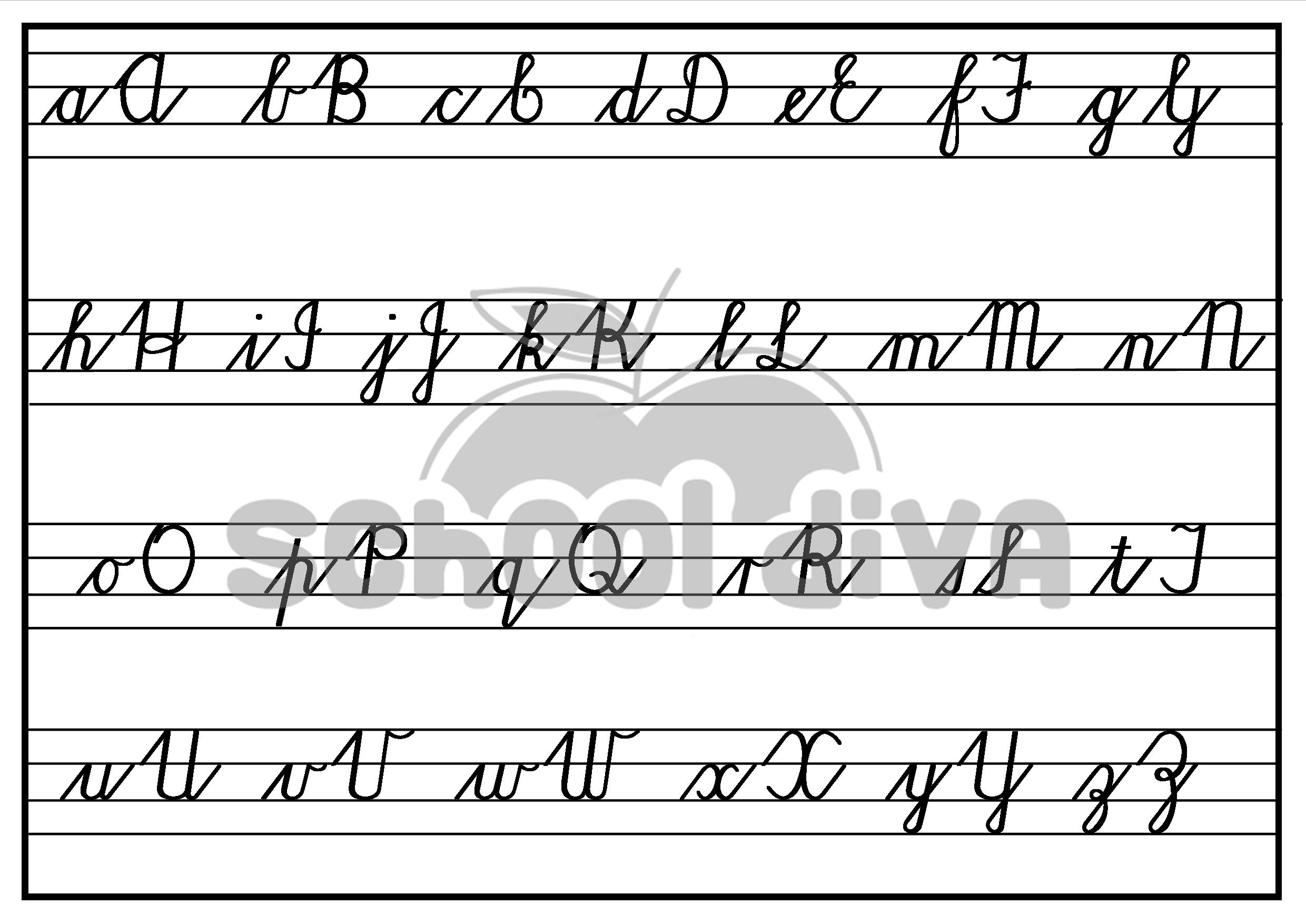 cursive writing worksheets printable Print these cursive handwriting worksheets to use in the classroom or home for extra handwriting practice each worksheet looks at 2, 3 or 4 letters using similar strokes.